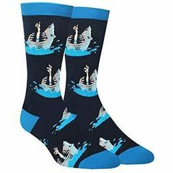 Zmart Men&39s Shark Attack Socks Funny Crazy Novelty Animal